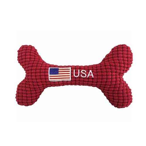 USA Patriotic Bone Dog Toy