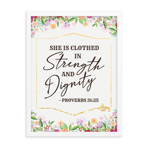 She is Clothed in Strength and Dignity Sign | Proverbs 31:25