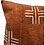 Thumbnail: Mudcloth White Crosses on Rust brown Lumbar Pillow Cover