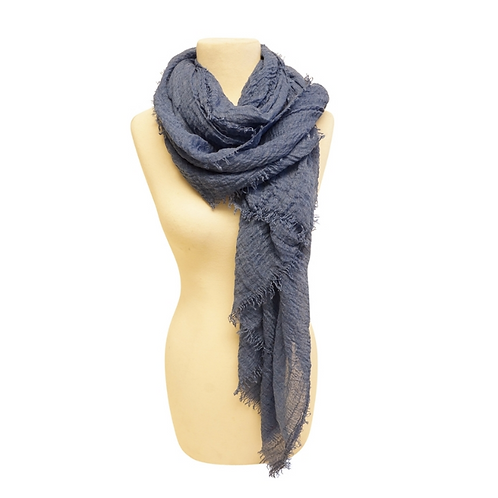 Mechaly Women's Cozy Dark Blue Vegan Scarf