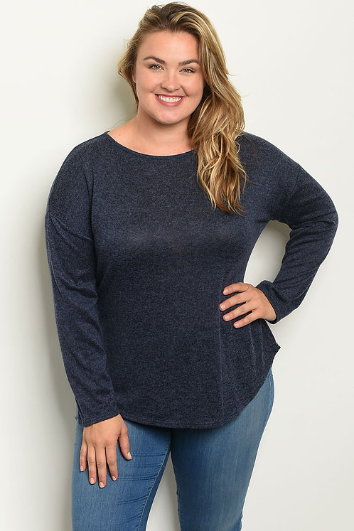 Bow Accent Plus Size Womens Top