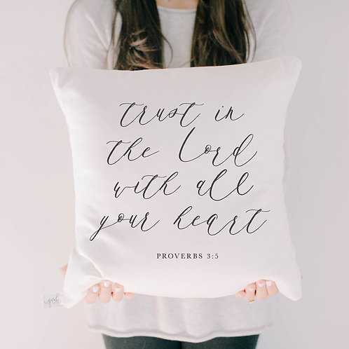 Trust In The Lord Verse Pillow