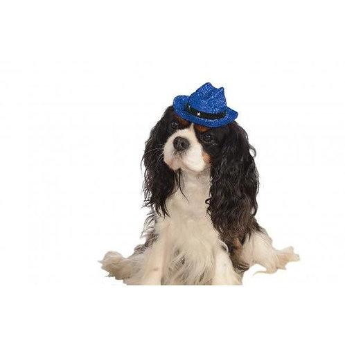 Cowboy Blue Glitter Pet Hat