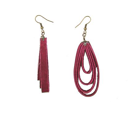Leather 4-Loop Earrings