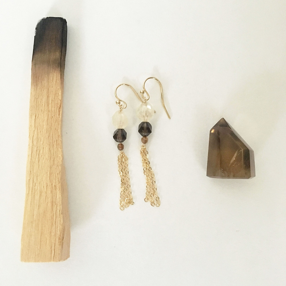 #earthtone earrings inspired by the color palette of wheat fields #naturescolorpalette