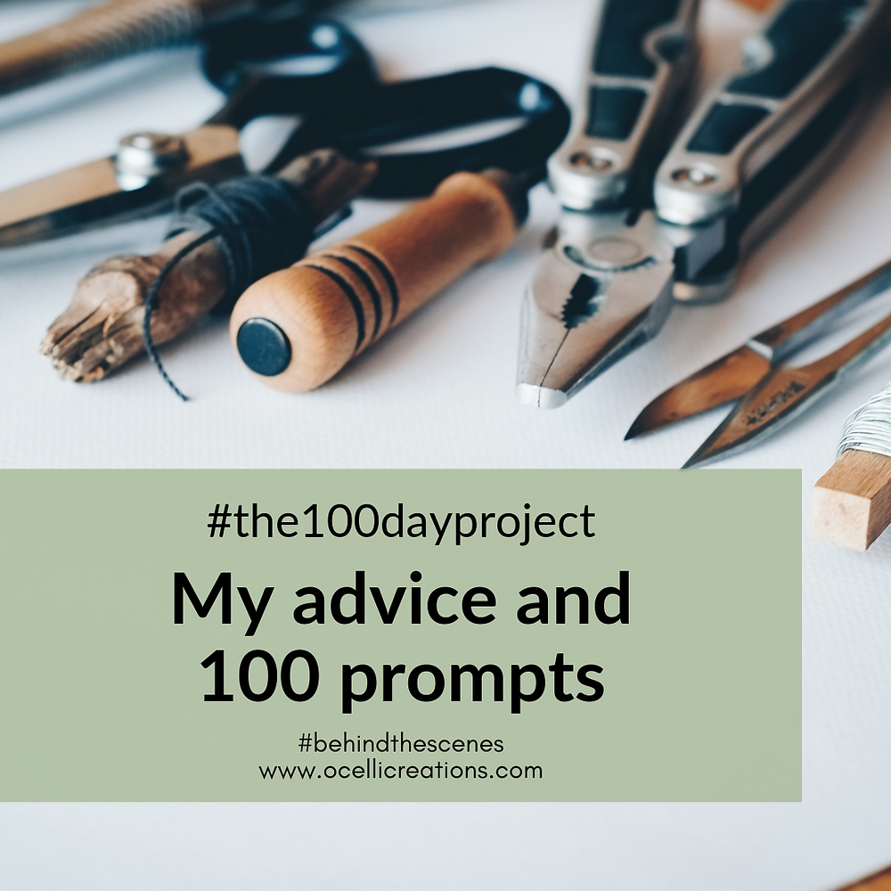 My advice for a successful #the100dayproject and 100 prompts for inspiration