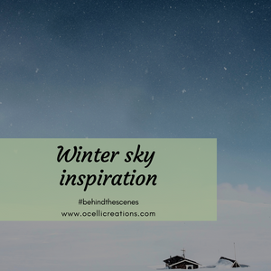 Winter sky inspiration -- how the sky is inspiring new jewelry designs!
