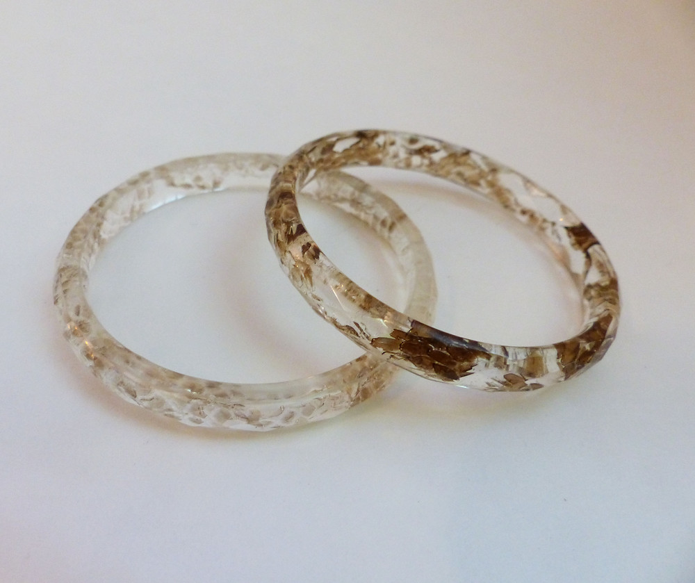 snakeskin bangle bracelet by Ocelli Creations