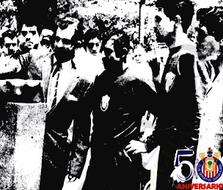 Juan Jasso como capitan del equipo de futbol lidereaba las actividades
