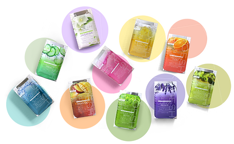 VOESH  4 step-10 scents in circle backgr