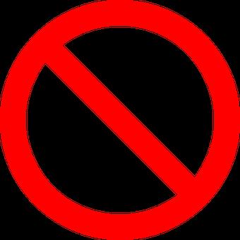 Navigation & baignade interdites