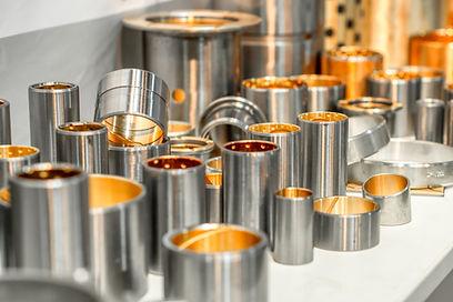 Steel bearings. Steel bushings with bron