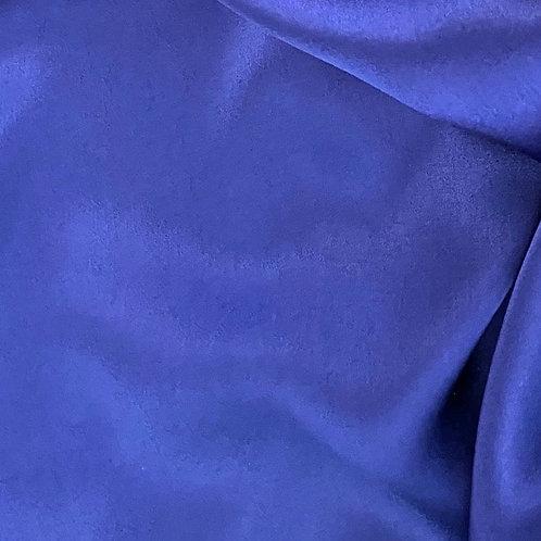 Milly Shirt - Sapphire Silk Satin