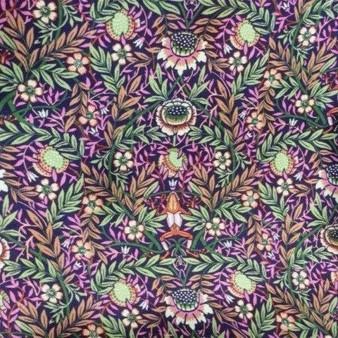 Shika Kimono - Peach Pincher Purple