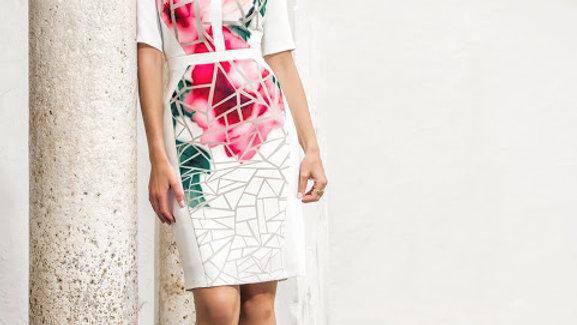 Michaela Louisa Dress in Ivory