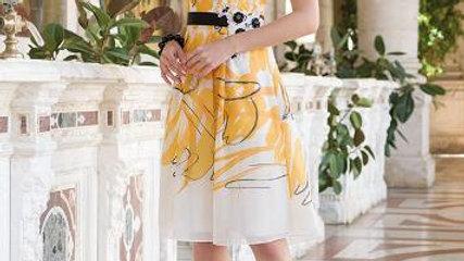 Michaela Louisa Dress in Yellow