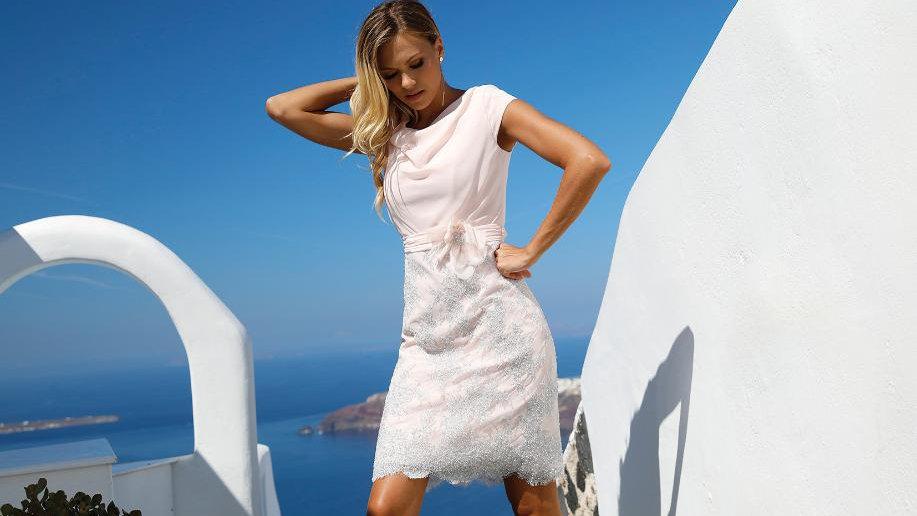 Linea Rafaelli Dress in Soft Pink