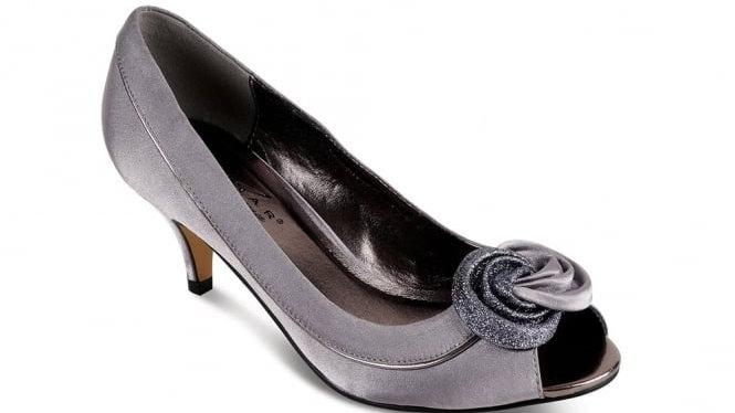 Ripley Satin Peep-toe Shoes in Grey