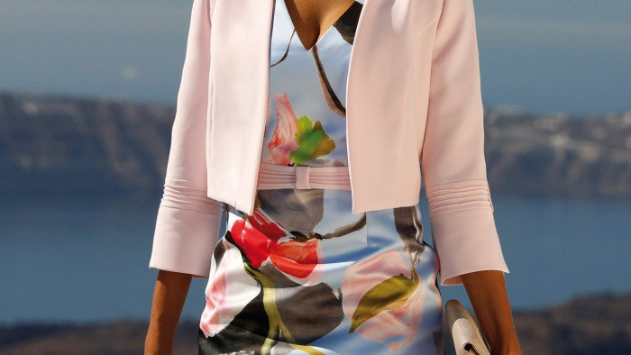 Linea Rafaelli Dress and Jacket in Blue and Pink