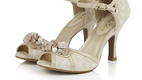 Ruby Shoo, Clarissa in Cream and Gold