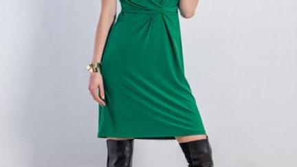 Michaela Louisa Dress in Emerald