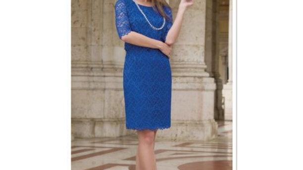 Michaela Louisa Lace Dress in Royal Blue