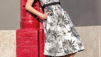 Michaela Louisa Dress in Silver and Black