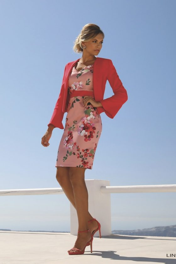 Linea_Cherry_pink_red_jacket_and_dress_Â