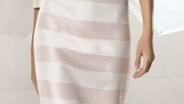 Sonia Pena Dress and Jacket in Nude and Ivory