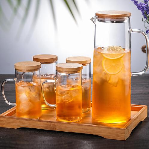 Simple Household Kettle Set Water Bottle Glass Teapot