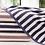 Thumbnail: 3Pcs / Set Bathroom Towel Set 100% Striped Bath Towel And 2 Face Towels