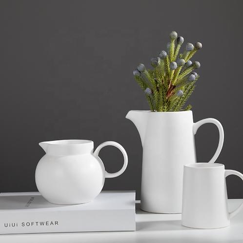 Matte White Nordic Ceramic Tea Set