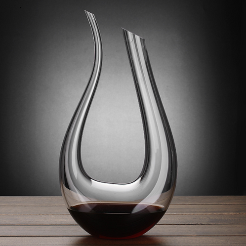 U-shaped swan red wine dispenser/decanter