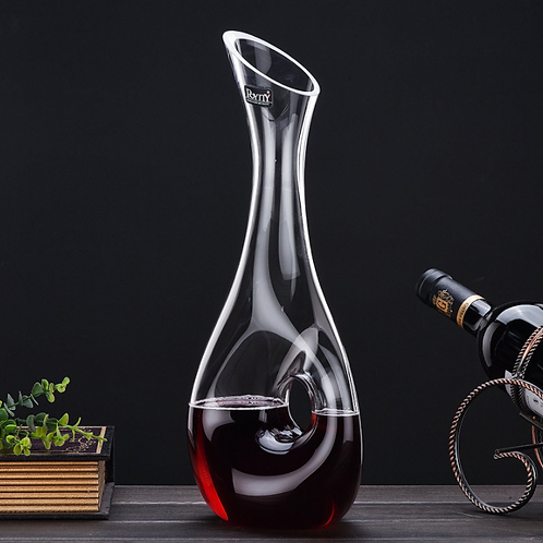 Lead-free Crystal Wine Long Neck Hollow Decanter
