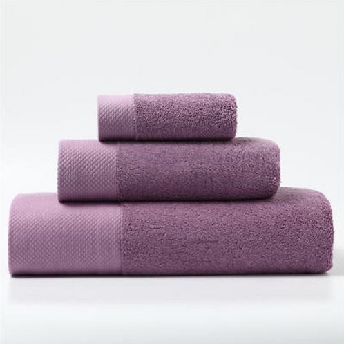 Luxury Bathroom Cotton Towel 3-Pack Set