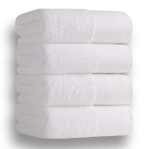 100% Cotton Pure White Heavy Terry Absorbent Towel For Bathroom