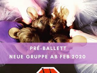 Neuer Kurs: Pre-Ballett für Kinder 4-6 J