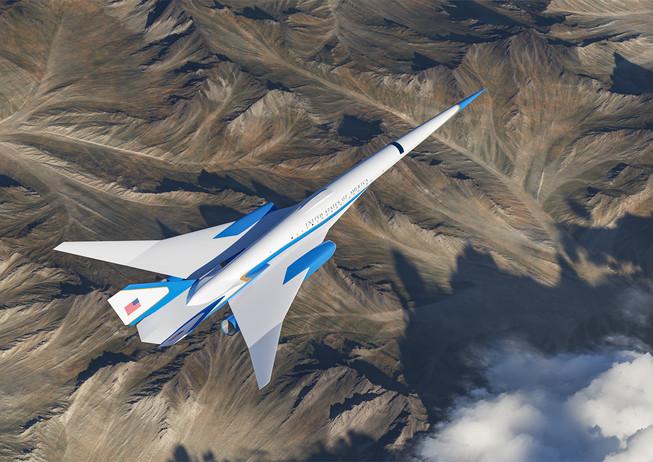 Exosonic Low Boom Supersonic Jet