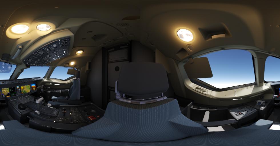Virtual reality interior presentation