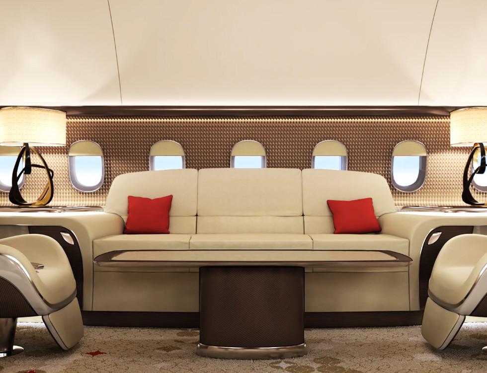 Boeing Business Jets 3D Anmiation Cabin Design Case study