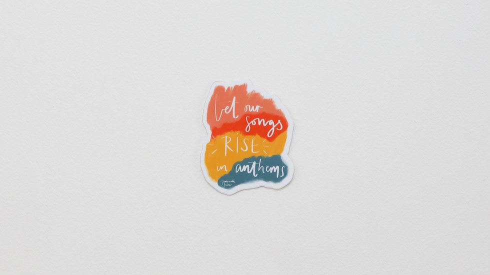 Anthems - Lyric sticker