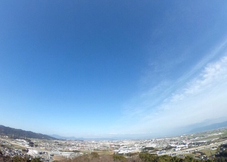 鳥栖市旭山公園から一望する市内