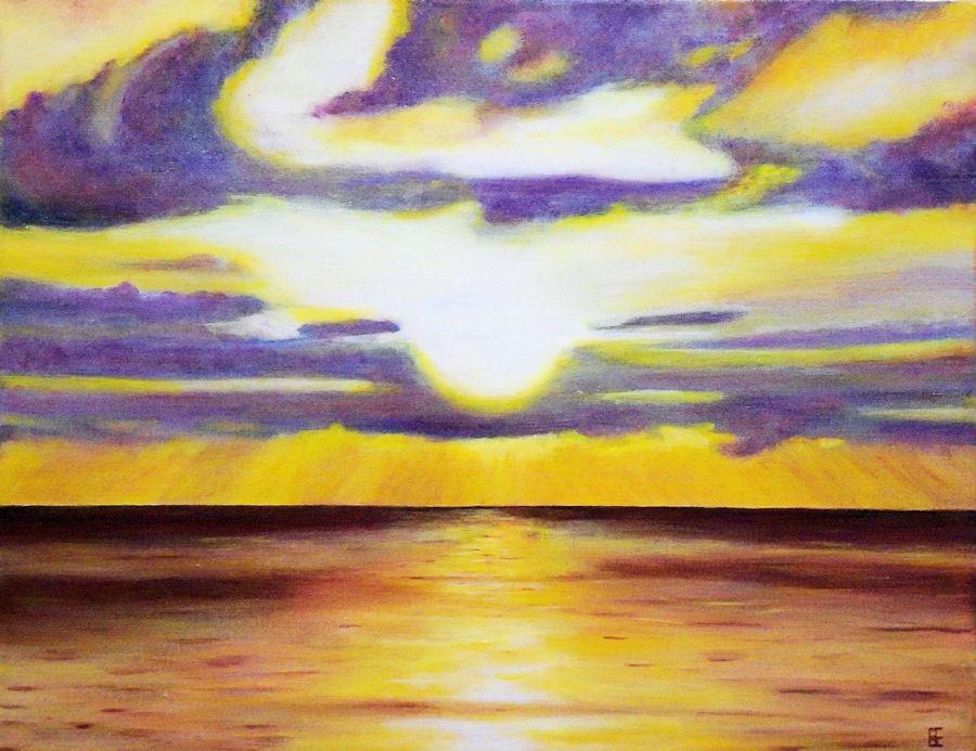 Sunset Glow   Acrylic   Beth Evans