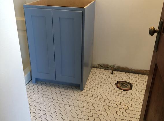 bathroom - pre-after