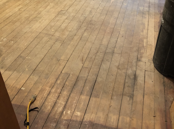the floor - before