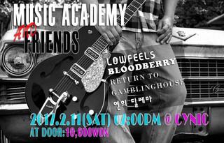 [Music Academy & Friends] 2017. 2. 11. sat. pm 7 @ Club Cynic