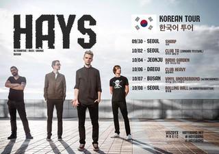 [HAYS Korea Tour] 2016. 10. 7. fri. pm 8 @ Vinyl Underground