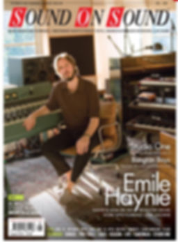 Emile Haynie with his Tree Audio Roots tube recording console