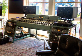 Emile Haynie's tube recording console for his Hollywood recordin studio