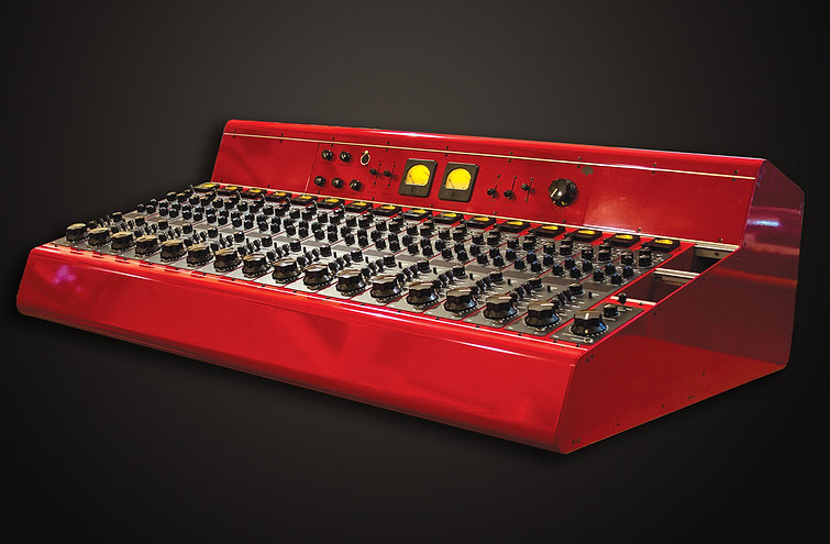 Songwriter Moon Martin's red Tree Audo Roots tube recording console